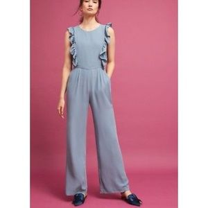 NWOT Anthropologie Paper Crown Ruffled Jumpsuit